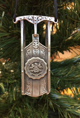 Pewter Sled Ornament