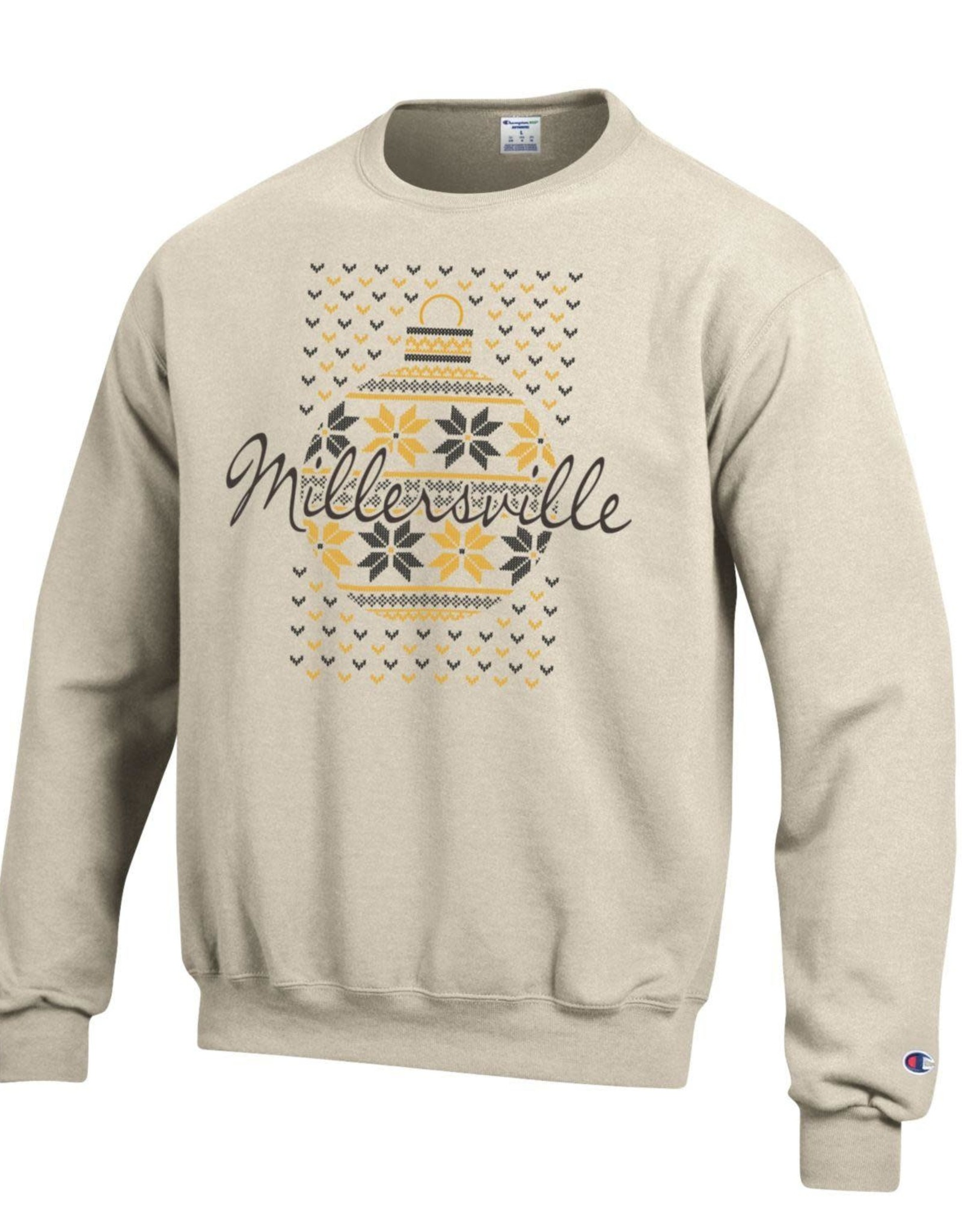Champion Ugly Christmas Sweatshirt Oatmeal