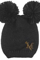 """Double Pom """"Leia"""" Knit Hat"""