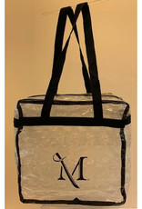 Clear Zippered M Sword Tote