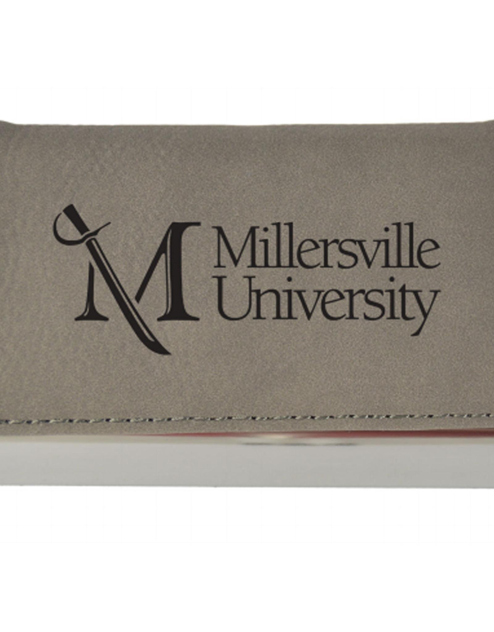 M Sword Leather Engraved Business Card Holder