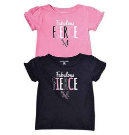 """""""Fabulous Fierce"""" Girls Ruffle Tee"""""""