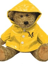 "M Sword Raincoat Bear - Oatmeal, 12"""