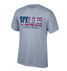 """""""Stars And Stripes"""" Ville Tee Grey"""