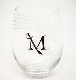 M Sword Stemless Wine Glass