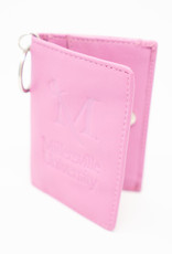 M Sword Leather Id Holder - Pink
