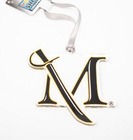 Etched M Sword Ornament