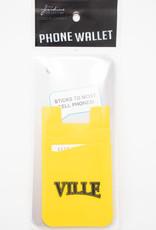 Dual Pocket Ville Phone Card Holder - Gold