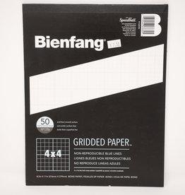 """Grid Paper 8.5"""" X 11"""" 4X4"""