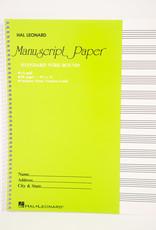 12 Staff Manuscript Paper Notebook - 96 Pages