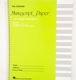 12 Staff Manuscript Paper Notebook - 96 Pages