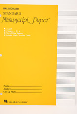 12 Staff Manuscript Paper Notebook - 64 Pages
