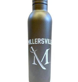 M Sword Aluminum Water Bottle - Powder Coat Gray, 17oz