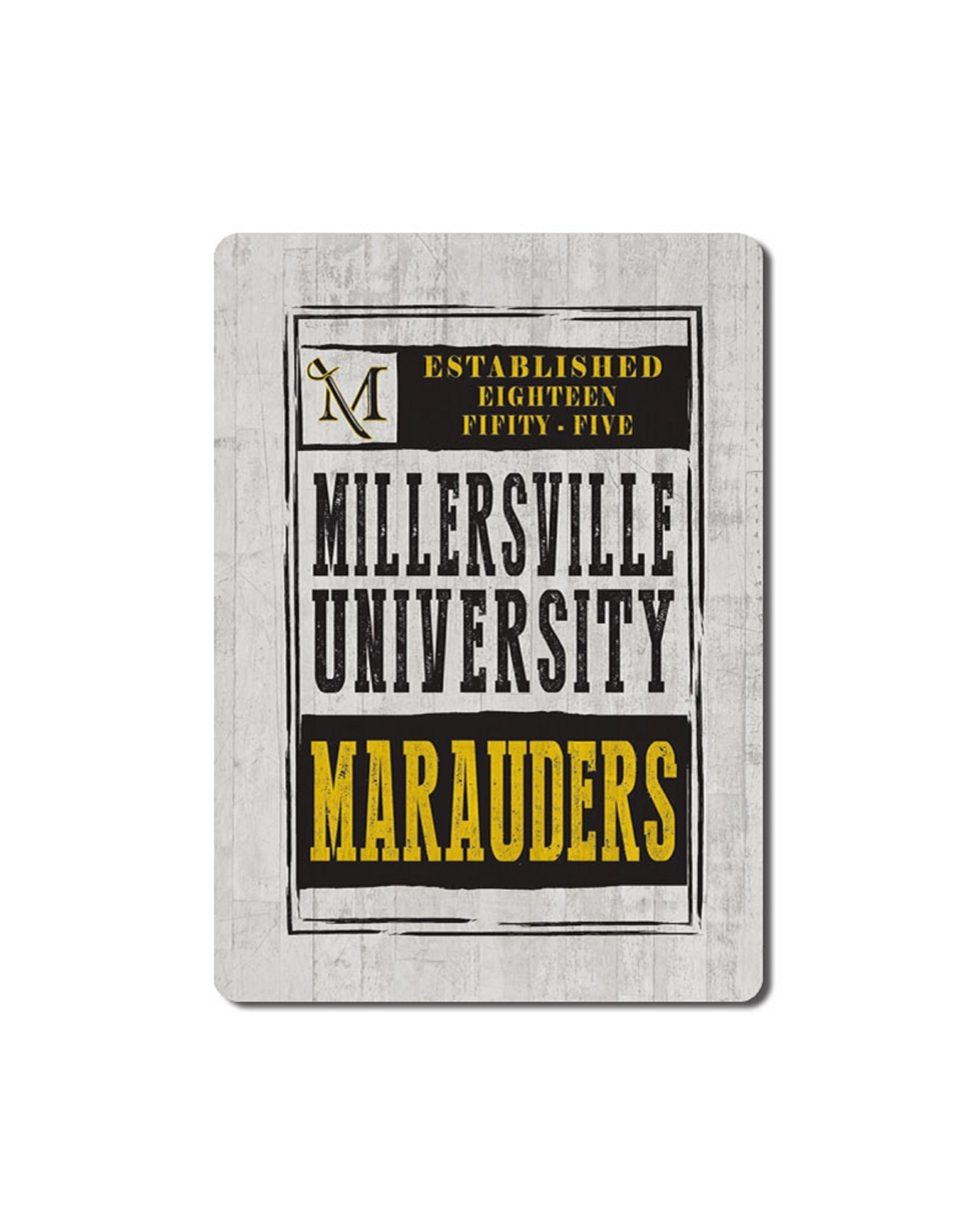 League Millersville Wooden Plank Magnet