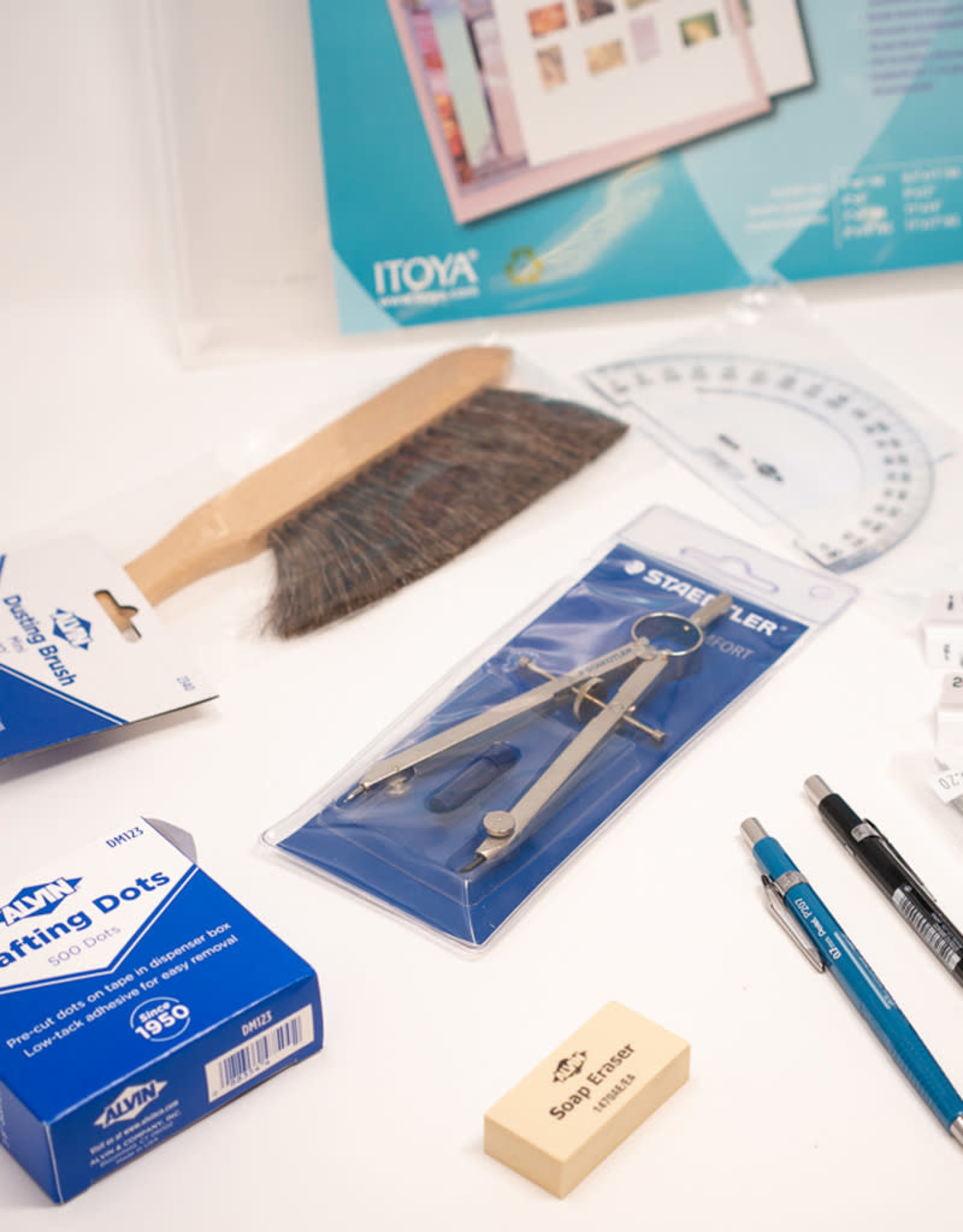 Drafting Kit With 0.9 Mm Pencil