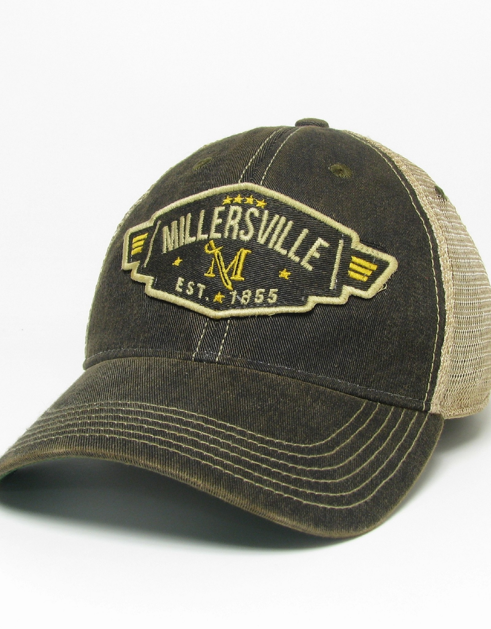 League Black Old Favorite Trucker Cap With Patch