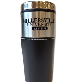 Stainless Travel Mug With Leather-Sale!