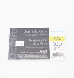 Quad Ruled Index Cards - 3 x 5