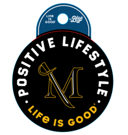 "Life is Good ""Life is Good"" Positive Lifestyle sticker"