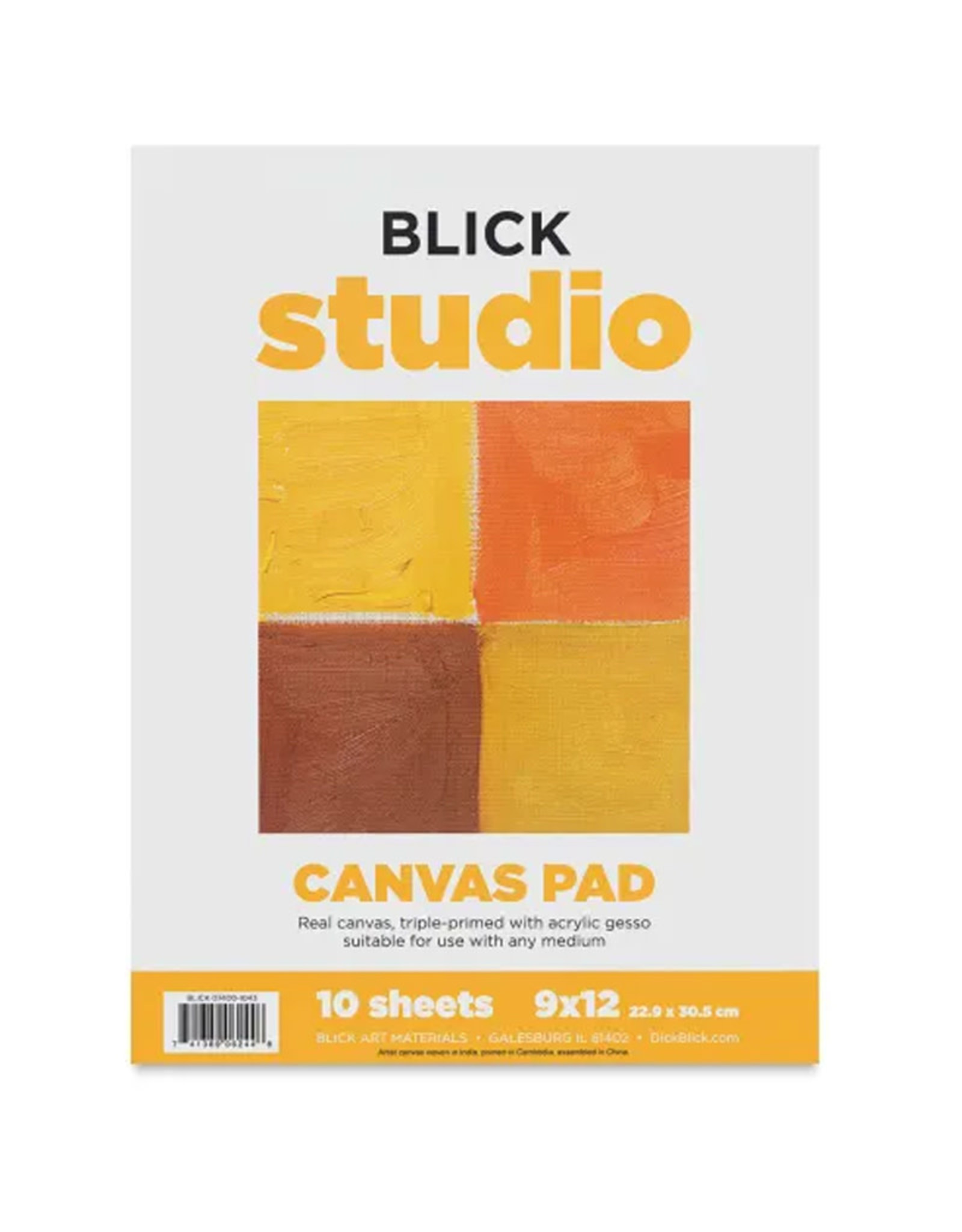 Canvas Pad 9 x 12 10 sheets Blick