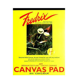 "Canvas Pad 10"" x 14"" 10 sheets Fredrix"