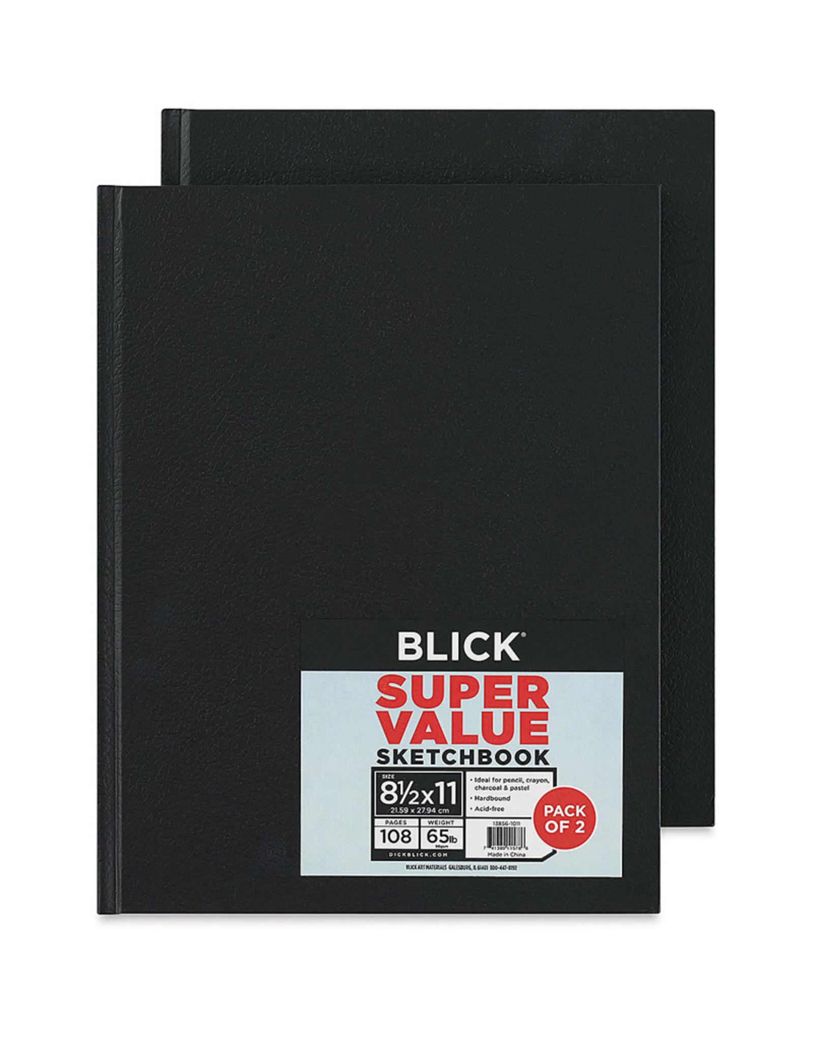 Sketchbook Hardbound 2pack 8.5 x11 Blick