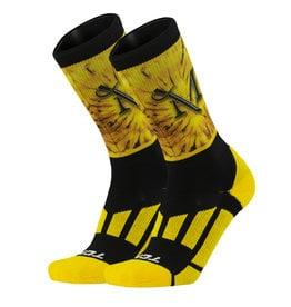 Gold Tie Dye Spiral Crew Sock