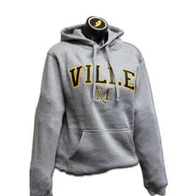 Premium Fleece Hood Graphite Heather with Applique