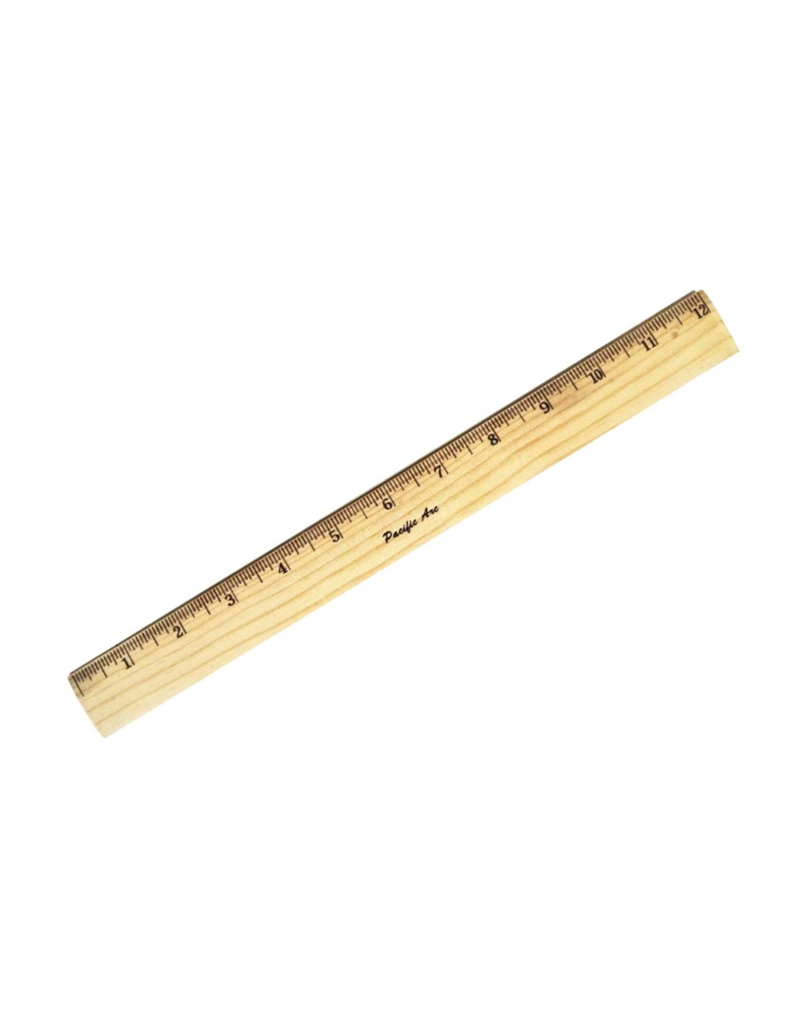 """Wood Ruler Metal Edge - 12"""""""
