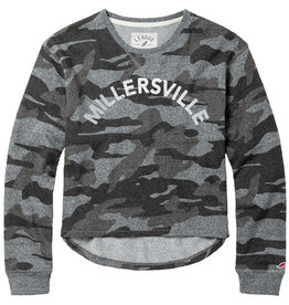 League Camo French Terry Crew