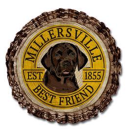 Barky Best Friend Wooden Magnet