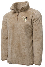 Tan Fuzzy Fleece Pullover