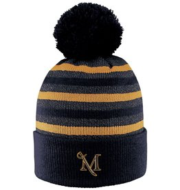 Black and Gold Striped Beanie