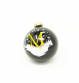 Ebony M Sword Glitter Ornament