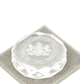 Clear Facet Paperweight