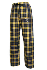 Black and Gold Flannel Pants