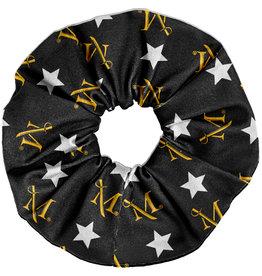 League Black Spirit Scrunchie with Stars