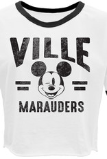 Disney Women's Crop Ringer Mickey Mouse