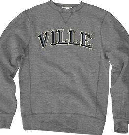 Vintage Grey Crewneck with Ville Chisel