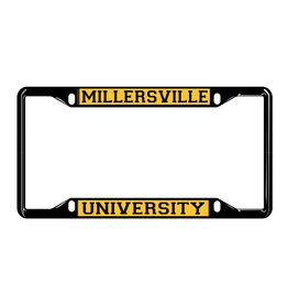 License Plate Frame Black & Gold