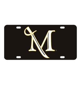Acrylic M Sword Lasercut License Plate