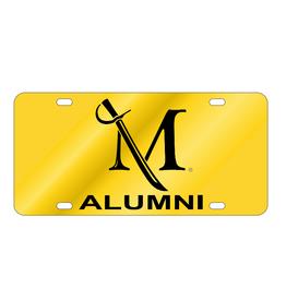 Acrylic Alumni Gold License Plate