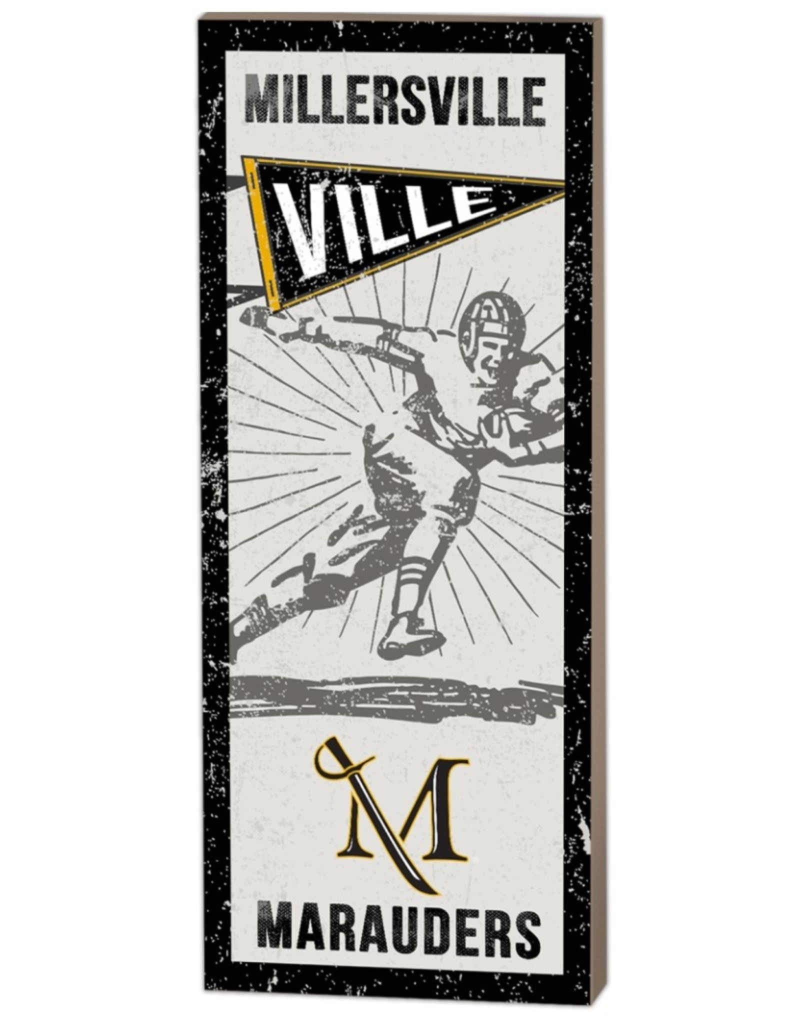 Vintage Player Pennant Wall Art