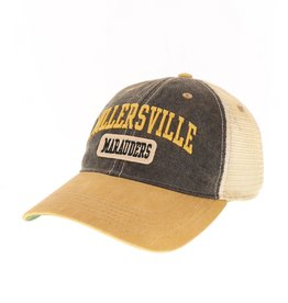 League Old Favorite Trucker Black and Gold with Felt
