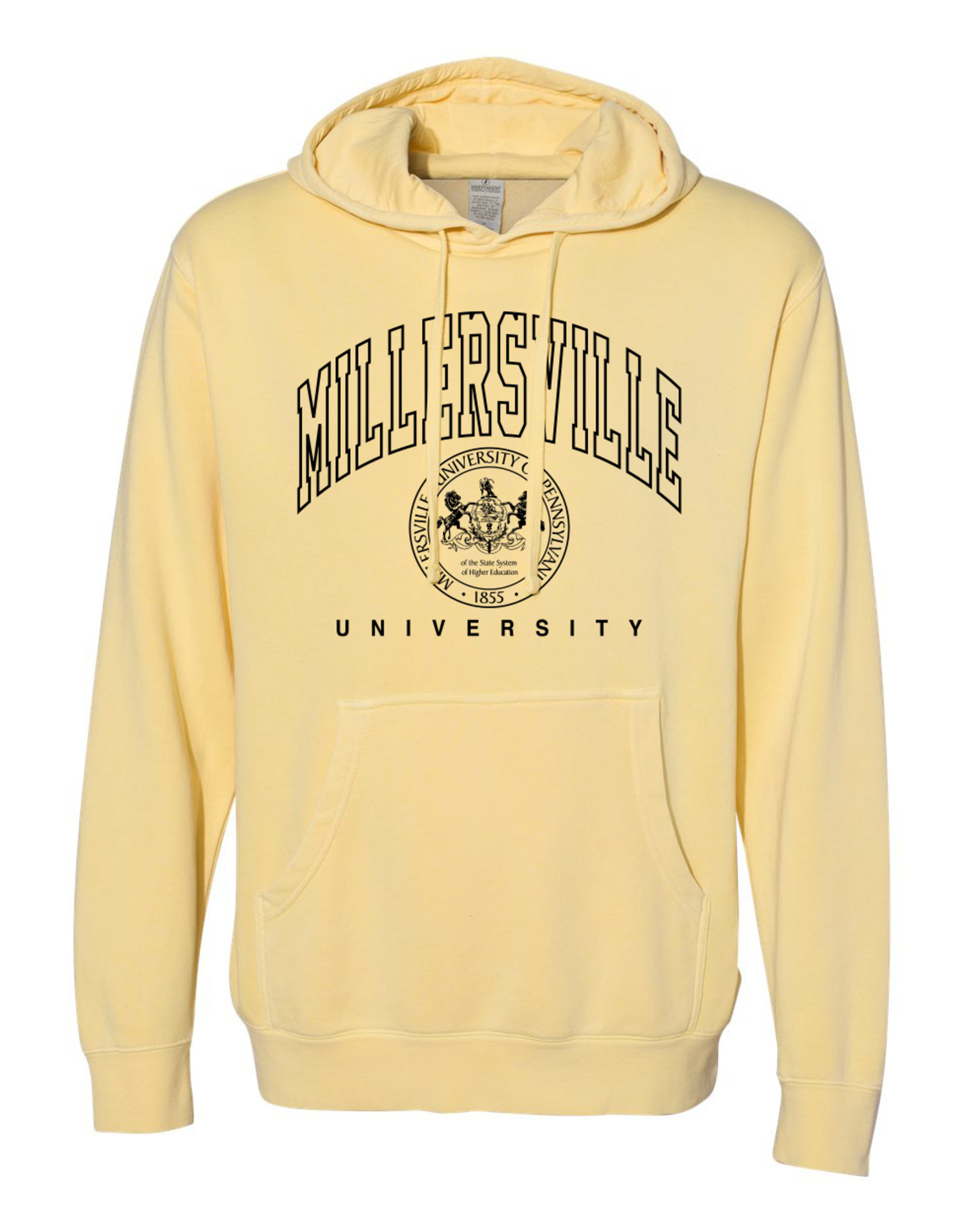 Unisex Pigment Dyed Pullover Yellow