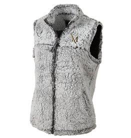 Women's Frosty Grey Sherpa Vest
