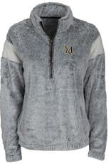 Grey/Natural Fuzzy Fleece Pullover