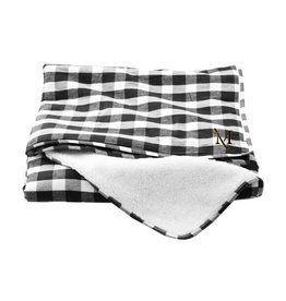 Black and White Everest Sherpa Blanket