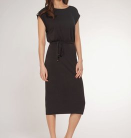 Dex Bros Clothing Co Ltd. Cap Sleeve Self Belt Dress