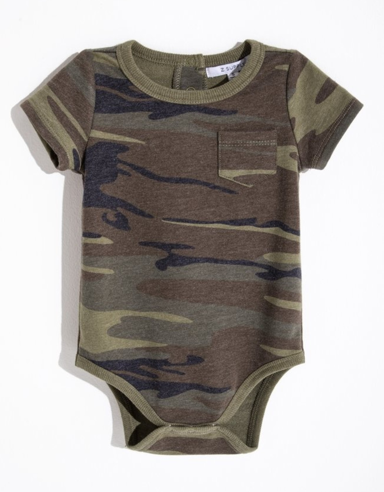 Z Supply Baby Pocket Camo Onesie